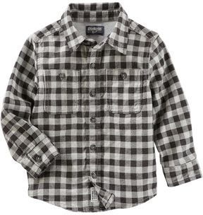Osh Kosh Toddler Boy Plaid Button-Front Flannel Shirt