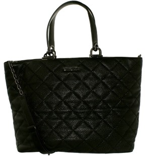 Michael Kors Women's Large Loni Quilted Leather Top-Handle Bag Tote - Black - BLACK - STYLE