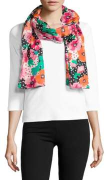 Echo Dotted & Floral-Print Scarf