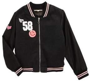 Truly Me Toddler Girl's Varsity Bomber Jacket
