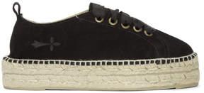 Manebi Black Hamptons Double Sneaker Espadrilles