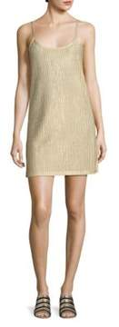 Each X Other Metallic Rib-Knit Slip Dress