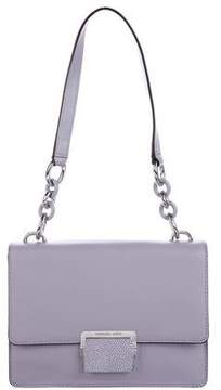 Michael Kors Stingray-Accented Shoulder Bag - PURPLE - STYLE