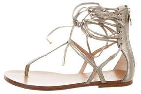 Sigerson Morrison Metallic Lace-Up Sandals w/ Tags