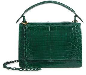 Nancy Gonzalez Divino Genuine Crocodile Top Handle Bag - Green