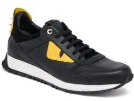 Fendi Bugs Leather Athletic Sneakers