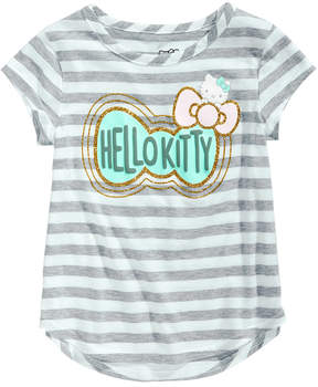 Hello Kitty Striped Bow-Print T-Shirt, Toddler Girls (2T-5T)