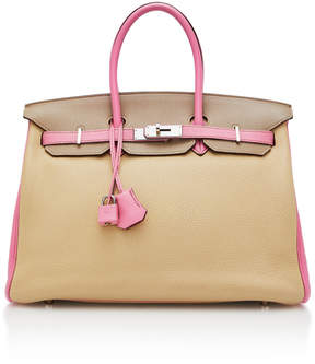 Hermes Vintage by Heritage Auctions 35cm Trench and Bubblegum Togo Leather Special Order Horseshoe Birkin