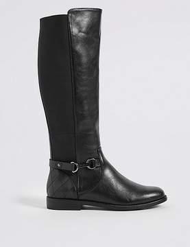 Marks and Spencer Block Heel Side Zip Knee High Boots
