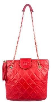 Chanel CC Lambskin Shoulder Bag