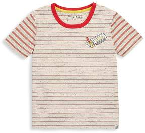 Sovereign Code Boy's Narrow Stripe Tee - Red, Size xl (18-20)