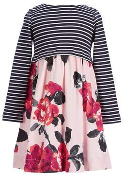 Joules Little Girls 1-6 Layla Striped/Floral Printed Dress