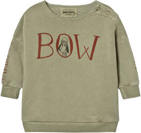Bobo Choses Grey-Green Bow Print Sweatshirt