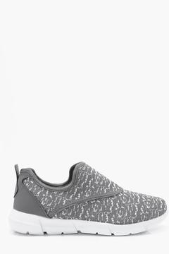 boohoo Knitted Slip On Runner Trainers