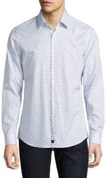 Strellson Dot Dobby Button-Down Shirt
