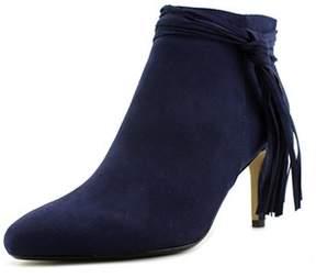 Thalia Sodi Alta Women Pointed Toe Canvas Blue Bootie.