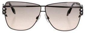 Roberto Cavalli Logo-Embellished Oversize Sunglasses