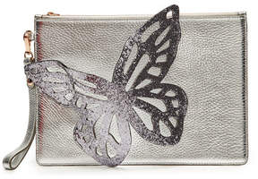 Sophia Webster Flossy Embroidered Leather Butterfly Pouchette