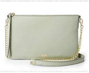 Fossil Sydney Top Zip Chain Crossbody Pastel Green ZB5702314