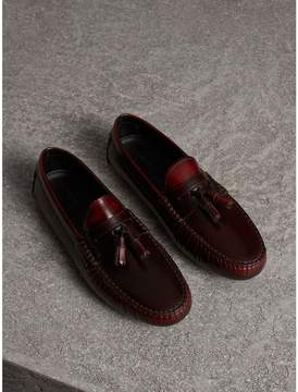 Burberry Tasselled Polished Leather Loafers