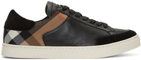 Burberry Black Rettford Check Sneakers