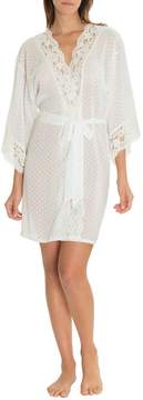 Jonquil In Bloom By In Bloom by Dotted Chiffon & Lace Wrap Robe
