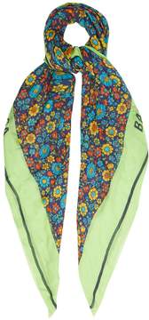 Balenciaga Floral silk-blend scarf