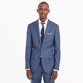 J.Crew Ludlow suit jacket with double vent in Italian worsted wool