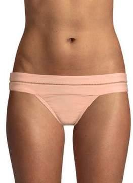 Pilyq Mesh-Trimmed Bikini Bottom