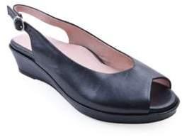 Taryn Rose Tellie Leather Slingback Demi-Wedges
