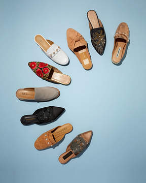 Andre Assous Kosa Embroidered Flat Mule