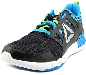 Reebok Zprint 3d Mtl Youth Round Toe Synthetic Black Running Shoe.