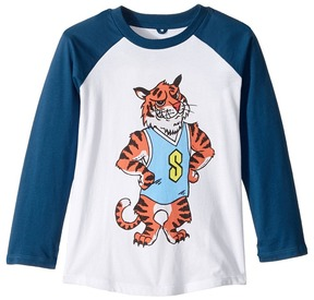 Stella McCartney Max Stella Tiger Mascot Raglan Tee Boy's Clothing