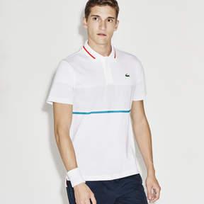 Lacoste Men's Sport Resistant Print Piqu Tennis Polo Shirt