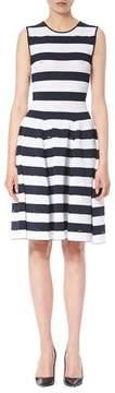 Carolina Herrera Nautical-Stripe Sleeveless Dress, Navy/White
