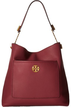 Tory Burch Chelsea Chain Hobo Hobo Handbags - BLACK - STYLE