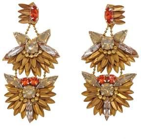 Deepa Gurnani deepa by Fabia Beaded Double Drop Earrings