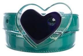Miu Miu Patent Leather Heart Belt