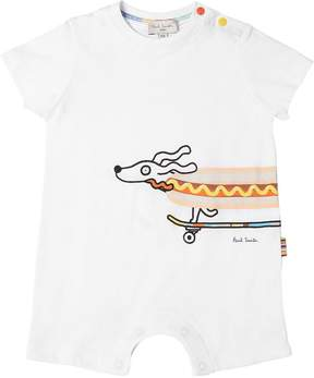 Paul Smith Hotdog Print Cotton Jersey Romper