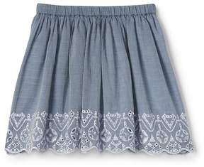 Gap Eyelet Chambray Flippy Skirt