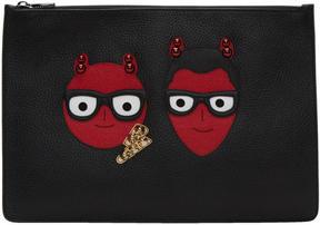 Dolce & Gabbana Black Devil Designers Pouch