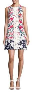 Eliza J Lace-Trimmed Floral Sheath Dress