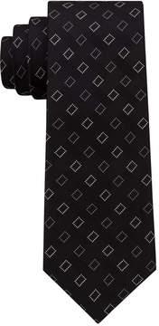 DKNY Men's Geometric City Block Silk Slim Tie