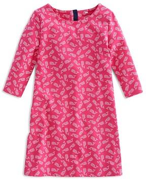 Vineyard Vines Girls' Whale Print Shift Dress - Little Kid