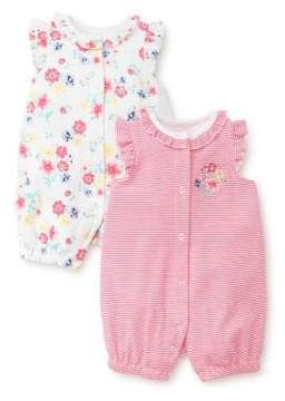 Little Me Baby Girl's Two-Pack Floral Cotton Rompers