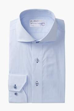 Lorenzo Uomo Thin Stripe Trim Fit Dress Shirt