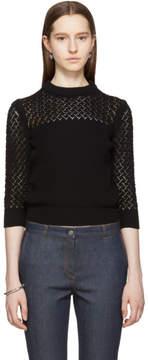 Bottega Veneta Black Cropped Crewneck Sweater