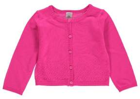 Carter's Baby Clothing Outfit Girls Pointelle Cardigan Pink NB