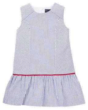 Oscar de la Renta Seersucker Drop Waist Dress (Little Girls & Big Girls)