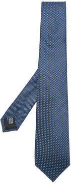Cerruti crosshatch pattern tie